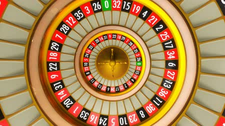 ruleta : Animación 3D de ruleta de casino. Todo 360 rotación loopable.