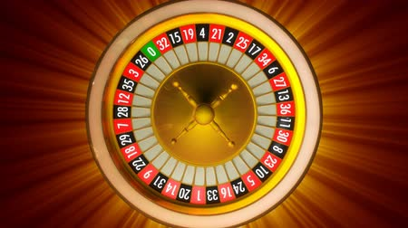 csík : 3D animation of casino roulette with rays. Whole 360 rotation loopable.