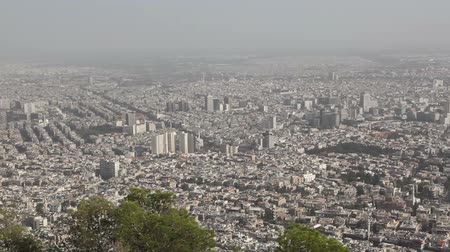 damasco : Panorama of Damascus from mountain Kasun