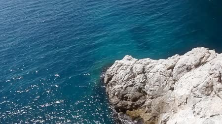 panorâmico : Shot from a rock to the fortress Lovrijenac, part of Dubrovnik city walls.