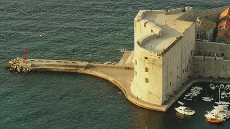 kasaba : St. John fortress with a port at the east entrance to the Dubrovnik old town, Croatia.