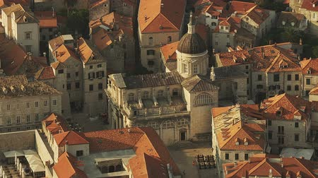 kasaba : Dubrovnik old town with cathedral, Croatia. Early morning.