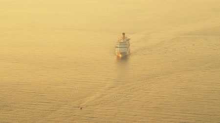 prowl : Cruise ship approaching Dubrovnik waters early in the morning, Croatia.