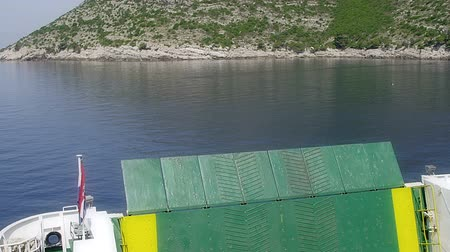 serene : Time-lapse of ferry boat departure. Location Peljesac peninsula, Croatia.