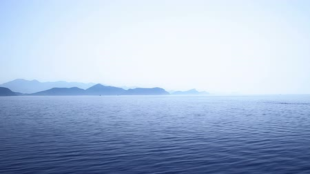 Средиземное море : Early morning Adriatic landscape, Peljesac peninsula near Dubrovnik, Croatia. Стоковые видеозаписи