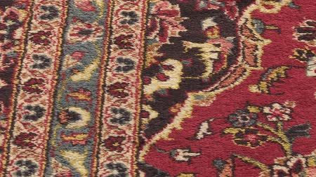 halı : Typical Muslim carpet for praying in mosque. Stok Video