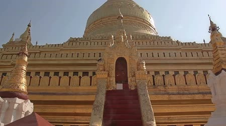 nyaung u : The Shwezigon Pagoda or Shwezigon Paya is a Buddhist temple located in Nyaung-U, a village near Bagan, in Burma, built by  King Anawrahta. Door to the last inner circle.