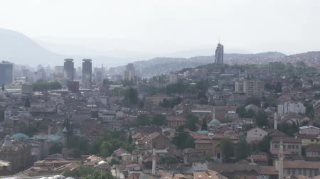 bascarsija : Panorama of Sarajevo in Bosnia an Herzegovina