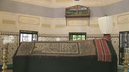 bascarsija : SARAJEVO, BOSNIA AND HERZEGOVINA - FEBRUARY 14, 2013: Interior of the Gazi Husrev Beg tomb.