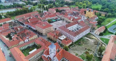 Osijek city aerial Stock Footage