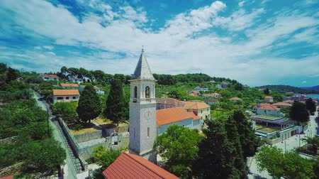 Prvic Luka aerial Stock Footage