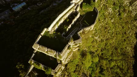 Knin Fortress in Croatia Stock Footage