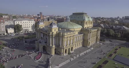 Kroatisches Nationaltheater in Zagreb-Antenne