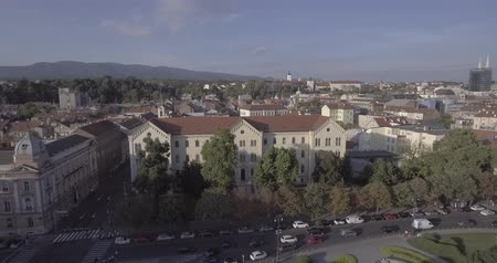 croatia : University of Zagreb aerial