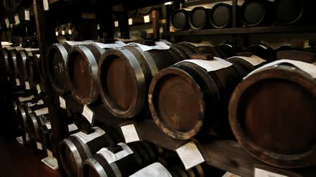 madeira : Modena, Italy - May 15 2013: View to the balsamic vinegar barrels for storing and aging in a cellar in Modena, Italy.