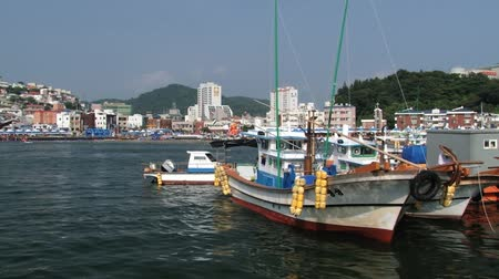 tongyeong : Tongyeong, Korea - August 17, 2013: View to the fishermens boats in the harbor of Tongyeong, Korea.