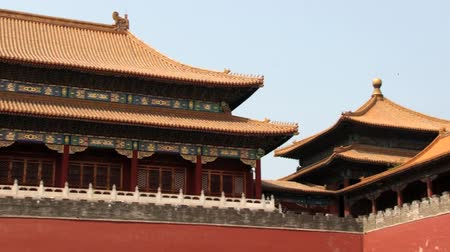 запрещенный : Beijing, China - May 25, 2013: View to the roof of the entrance gate of the Gugun palace in Beijing, China.