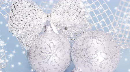 Blue and White Christmas ball