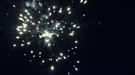 fireworks in a night sky