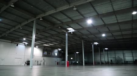 depositary : Big storage room. Inside of empty warehouse