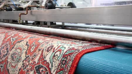 szőnyeg : Automatic washing and cleaning of carpets Stock mozgókép