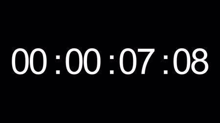 timecode : Timecode. White digits on black background Stock Footage