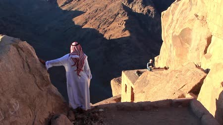mussulman : Bedouin on Mount Sinai in Egypt Stock Footage