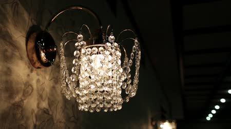 wandtapijt : Crystal sconce Stockvideo