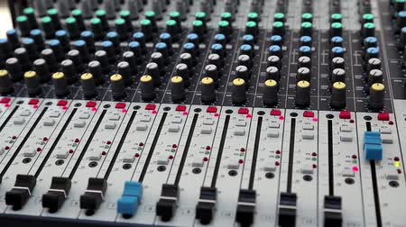 acoustical : Audio production console in sound-recording studio