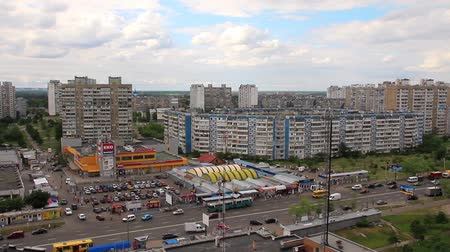 dáma : Urban district and supermarket. View from above