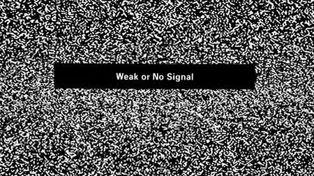 relict : Weak or No Signal inscription on television screen with noise