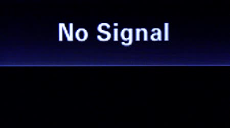 relict : No signal inscription on television screen
