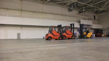 depositary : Forklift loaders inside the warehouse