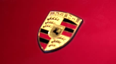 anual : UKRAINE, KIEV, SEPTEMBER 7, 2014: Porsche at yearly automotive-show in Kiev, Ukraine