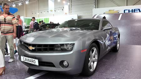 anual : KIEV, UKRAINE, MAY 27, 2012: Chevrolet Camaro at the yearly automotive show SIA 2011 in Kiev, Ukraine.