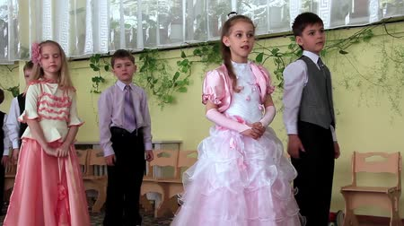 kiddy : KIEV, UKRAINE, MAY 9, 2012: Children in kindergarten. Children at graduation ball in kindergarten