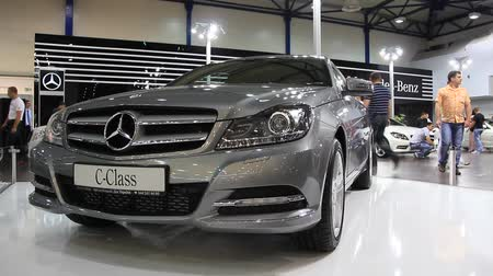 anual : KIEV, UKRAINE, MAY 26, 2011: Mercedes-Benz C-class at yearly automotive-show SIA 2011.