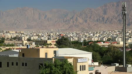 aqaba : View of the city of Aqaba in Hashemite Kingdom of Jordan Stock Footage