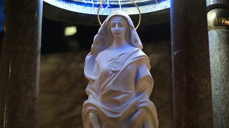 dolorosa : Monument of the Blessed Virgin Mary, Mother of God, Ivano-Frankivsk city, western Ukraine Stock Footage