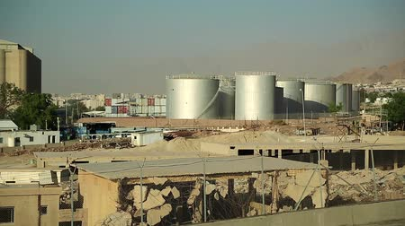 aqaba : Large capacity tanks and industrial facilities near Aqaba, Hashemite Kingdom of Jordan