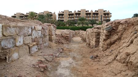 aqaba : Ruins of ancient Ayla - medieval islamic city in present Aqaba city, Hashemite Kingdom of Jordan. Early islamic Ayla