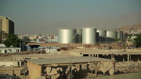 aqaba : Large capacity tanks in industrial area near port terminal in Aqaba, Hashemite Kingdom of Jordan