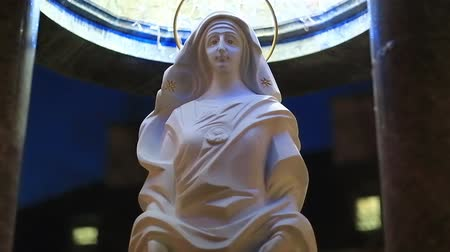 dolorosa : Mother of God. Monument of the Blessed Virgin Mary in Ivano-Frankivsk city in western Ukraine Stock Footage