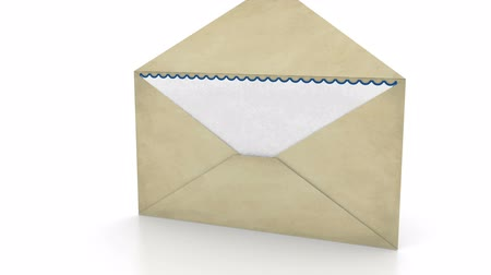direkt : Opening envelope - Mail concept Stok Video