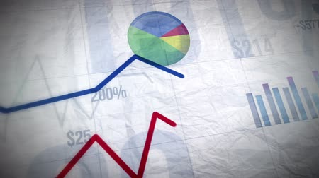 vonal : Growing Business Charts - 1080p Full HD Quality Stock mozgókép
