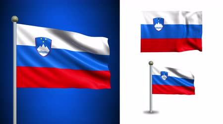 slovinsko : Slovenia flag - 4k resolution with Alpha channel, seamless loop!