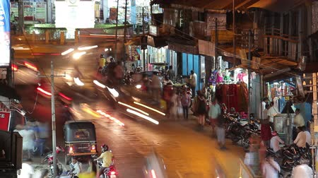 capital cities : India traffic night