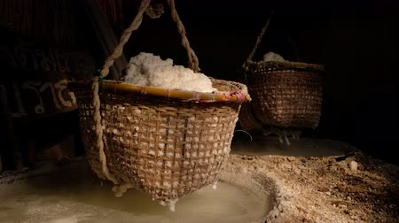 Ancient salt rock process, The folk wisdom traditional boiling salt water. Bo Kluea District Nan province, Thailand.