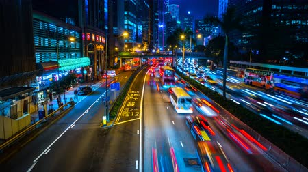 Traveling traffic in Hong Kong Stock Footage