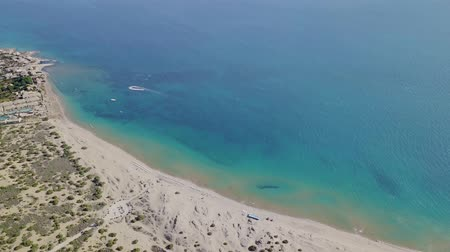 grecja : The coastline of Corfu view from the drone